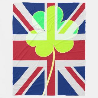 Cobertor De Velo Trevo britânico irlandês St Patrick Reino Unido do