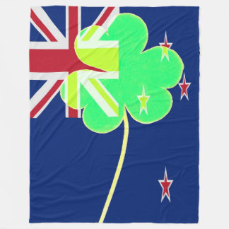 Cobertor De Velo Trevo St Patrick do trevo da bandeira de Nova