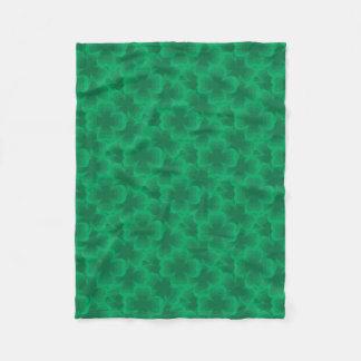Cobertor De Velo Trevos irlandeses do primavera do trevo afortunado