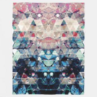 Cobertor De Velo Triângulos abstratos coloridos