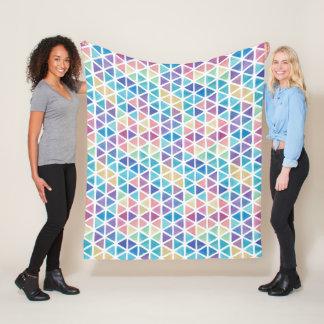 Cobertor De Velo Triângulos abstratos da aguarela (tons do recife