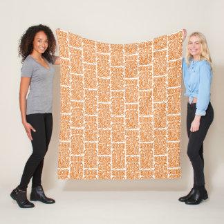 Cobertor De Velo Tribal fale a arte, branca na cor alaranjada,