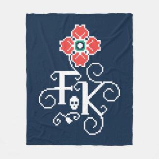 Cobertor De Velo Tributo floral de Frida Kahlo |