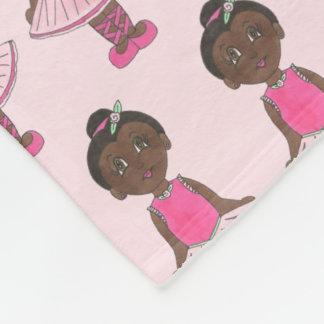 Cobertor De Velo Tutu do rosa do rosa da bailarina do dançarino de