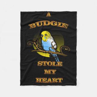 Cobertor De Velo Um Budgie roubou meu coração