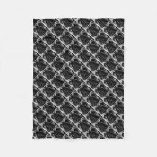Cobertor De Velo Um buldogue francês preto e branco