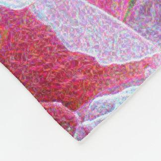 Cobertor De Velo Um campo vibrante dos rosas