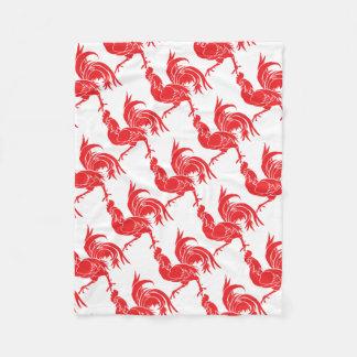 Cobertor De Velo Um galo vermelho