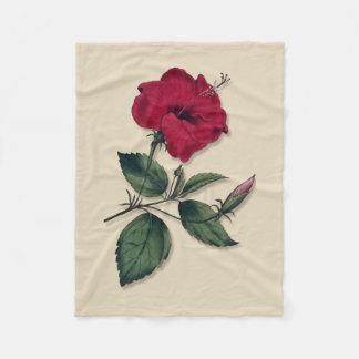 Cobertor De Velo Única obscuridade botânica do estilo - os hibiscus