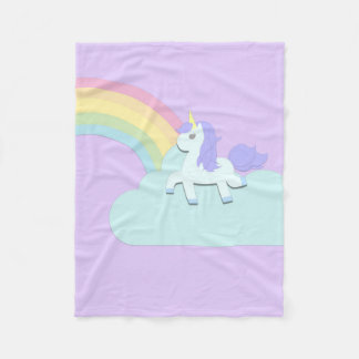 Cobertor De Velo Unicórnio com arco-íris