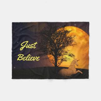 Cobertor De Velo Unicórnio da meia-noite