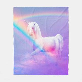 Cobertor De Velo Unicórnio e arco-íris