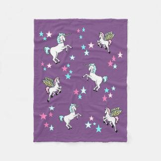 Cobertor De Velo Unicórnio e cavalos mágicos de Pegasus