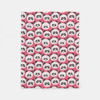 Cobertor De Velo Urso de panda do rosa de bebê