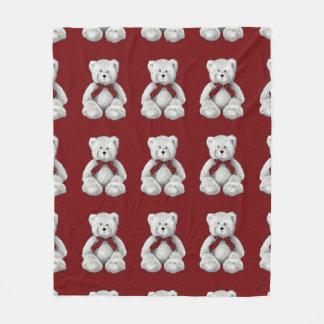 Cobertor De Velo Urso de ursinho bonito, desenho de lápis, bolinhas