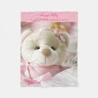 Cobertor De Velo Urso de ursinho cor-de-rosa do bebé da cobertura