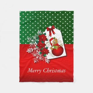 Cobertor De Velo Urso do Natal do feriado