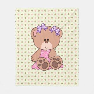 Cobertor De Velo Urso feito sob encomenda da menina