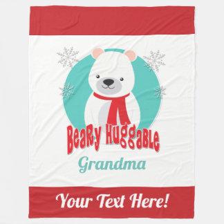Cobertor De Velo Urso Huggable do Natal do inverno de Beary