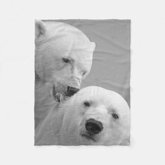 Cobertor De Velo Urso Polar Amor e Cumplicidade