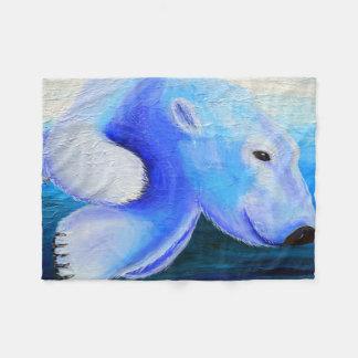 Cobertor De Velo Urso polar nadador