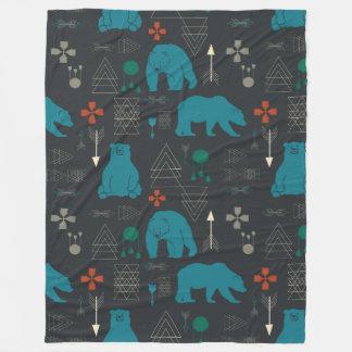 Cobertor De Velo urso tribal