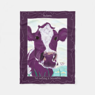 Cobertor De Velo Vaca roxa que contempla bastante possivelmente o