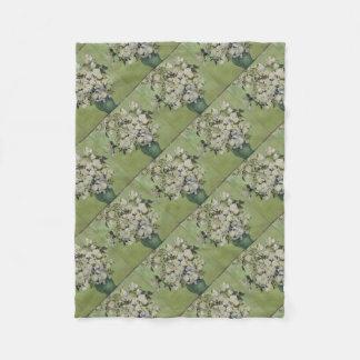 Cobertor De Velo Vaso de Vincent van Gogh dos rosas que pintam a