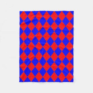 Cobertor De Velo Velo Blanket_ vermelho, diamantes azuis