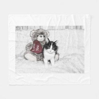 Cobertor De Velo Velo do gatinho dos namorados