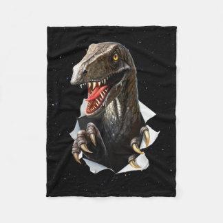 Cobertor De Velo Velociraptor na cobertura pequena do velo do