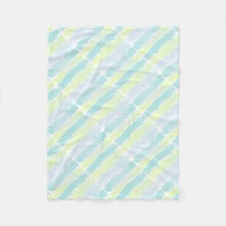 Cobertor De Velo Verde azul Azur da aguarela