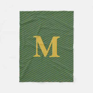Cobertor De Velo Verde feito sob encomenda do monograma e cobertura