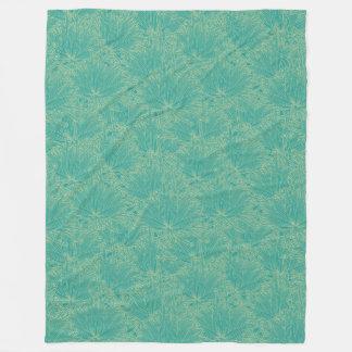Cobertor De Velo Verde floral moderno