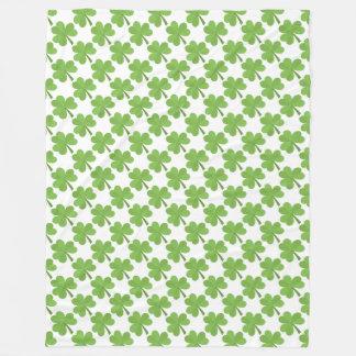 Cobertor De Velo Verde irlandês dos trevos do trevo do dia de St