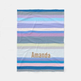 Cobertor De Velo Verde Monogrammed/cinzas/bege/rosa/roxo/azul