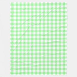 Cobertor De Velo Verificações verdes e brancas Pastel pálidas do