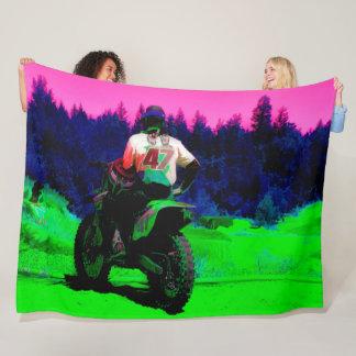 Cobertor De Velo Verificando a trilha - piloto do motocross