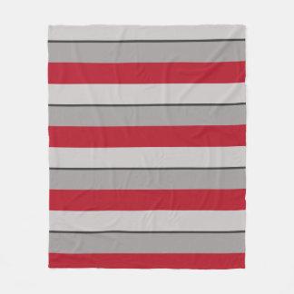 Cobertor De Velo Vermelho carmesim e Taupe Multi-Listrados