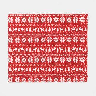 Cobertor De Velo Vermelho com crista chinês do teste padrão do