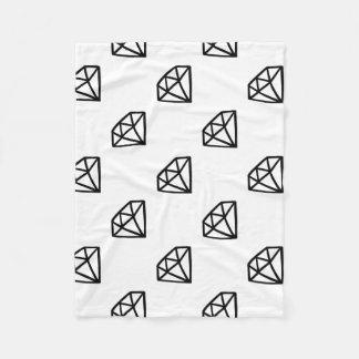 Cobertor De Velo Versão preto e branco do diamante