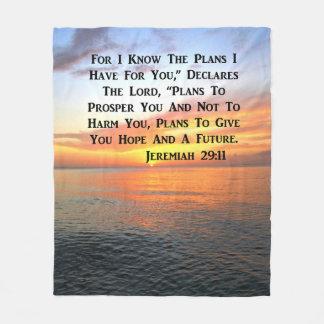 COBERTOR DE VELO VERSO SERENO DA BÍBLIA DO 29:11 DE JEREMIAH DO