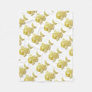 Cobertor De Velo Vida dos peixes do ouro