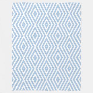 Cobertor De Velo Vigas azuis calmas do diamante dos humores