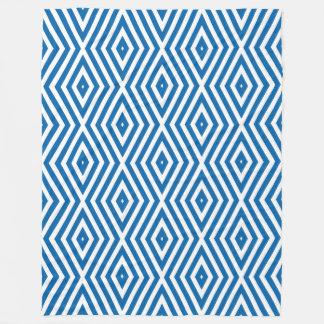 Cobertor De Velo Vigas do diamante dos humores dos azuis cobaltos