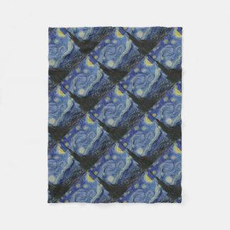 Cobertor De Velo Vincent van Gogh - noite estrelado. Pintura da