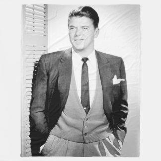 Cobertor De Velo Vintage Ronald Reagan