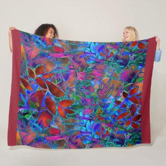 Cobertor De Velo Vitral abstrato floral geral do velo