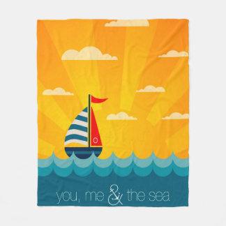 Cobertor De Velo Você mim & o mar