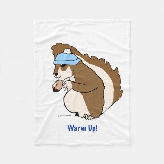 Cobertor De Velo Warm Up! Esquilo bonito com cobertura do chapéu